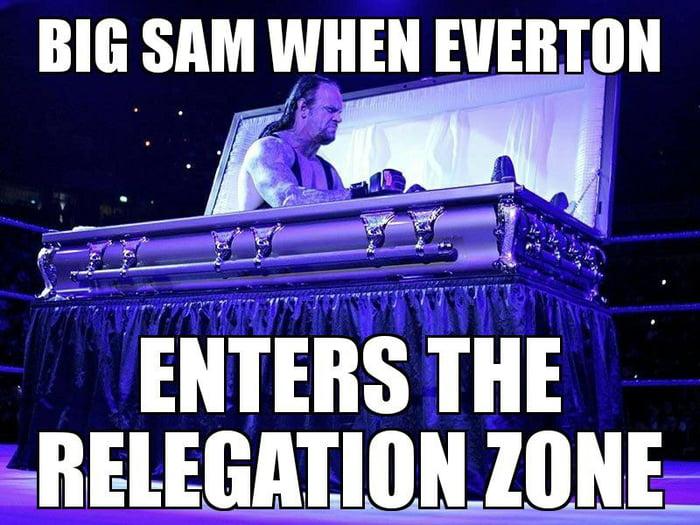 Sam Allardyce to save Everton again.